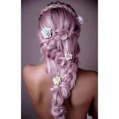 #dollswithdye #mermaidhair #unicornhair #colorfulhair #pinkhair #lavenderhair #braidedhair