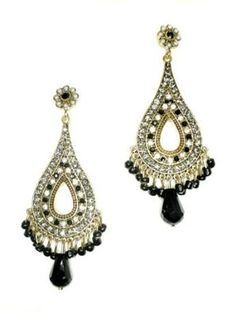 "Sparkling, Chandelier earrings - would go great with a black or white dress and a ""must"" for an up-do! $44.99 #prom"