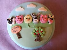 Little farm animals #cake