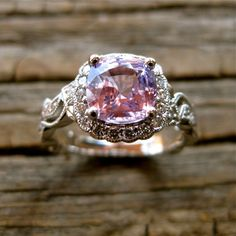 Handmade Rose Pink Sapphire Engagement by AdziasJewelryAtelier. Throwing out some big hints for this one :)