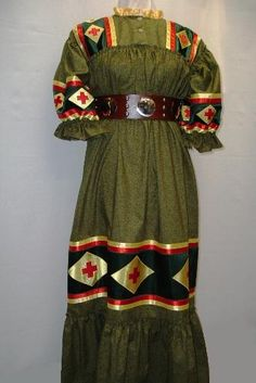 Oklahoma-Cherokee Style Tear Dresses. The Cherokee Tear Dress was adopted as the official style of the Cherokee Nation of OK over 30 yrs ago. In the past 20 years, it's been adopted by Cherokees & descendants everywhere. This modern style is based on a dress that came to Indian Territory on the Trail of Tears.