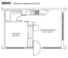 1br 1b 400 sq ft tiny house plans - Google Search