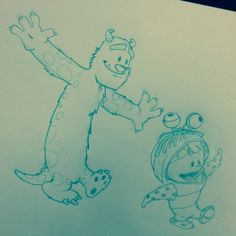 Sulley and Boo! (Calvin and Hobbes style!) lol