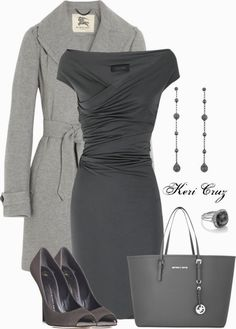 Classy Outfits | Rising to The Top  dress, Burberry coat, GIUSEPPE ZANOTTI shoes, MICHAEL Michael Kors tote bag  by keri-cruz