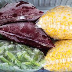How to freeze garden vegetables