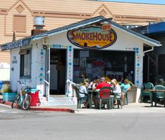 LUNCH - Ruddell's Smokehouse, smoked fish tacos in Cayucos. My favorite place to pick up a picnic of smoked cheese, smoked albacore, or even an entire chicken smoked for a quick dinner!