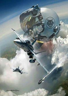 The Fighter Pilot Jet Fighter Pilot, Fighter Jets, Airplane Wallpaper, Ninja Art, Airplane Art, Aviation Art, Aircraft Carrier, Military Art, Military Aircraft