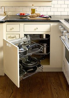 When You Open The Cabinet Door The Shelves Behind Pull Out Endearing Pull Out Kitchen Cabinet Design Inspiration
