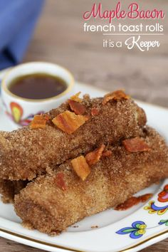 Maple Bacon French Toast Rolls - these decadent treats make a great breakfast or dessert recipe