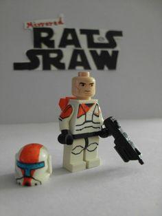 Lego Star Wars minifigures - Clone Custom Commando Boss