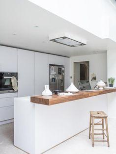 New kitchen wood bar cuisine ideas Diy Kitchen Island, Kitchen Benches, Kitchen Sets, Kitchen Living, New Kitchen, Kitchen Wood, Wooden Benchtop Kitchen, Space Kitchen, Wood Counter