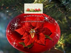 Un Nou An asa cum vi-l doriti :) Christmas Poinsettia, Christmas Bulbs, Merry Christmas, Christmas Decorations, Holiday Decor, Christmas Ideas, Painted Ornaments, All Things Christmas, Projects To Try
