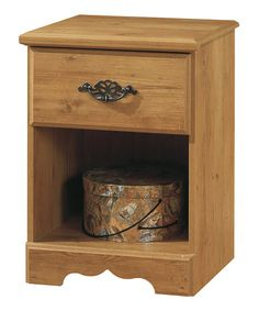 Look at this #zulilyfind! Country Pine Prairie Nightstand #zulilyfinds