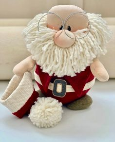 Santa Claus Door Stop Christmas Door Sto - Diy Crafts - Marecipe Christmas Gnome, Christmas Sewing, Christmas Door, Diy Christmas Ornaments, Christmas Projects, Holiday Crafts, Christmas 2019, 242, Scandinavian Christmas