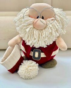 Santa Claus Door Stop Christmas Door Sto - Diy Crafts - Marecipe Christmas Gnome, Christmas Sewing, Christmas Door, Diy Christmas Ornaments, Holiday Crafts, Christmas Holidays, Christmas 2019, 242, Scandinavian Christmas