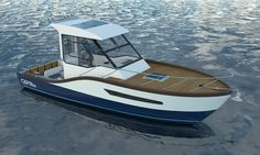 Coral 23. A 7-meter yacht which has been designed to satisfy the pleasure and the fishing.