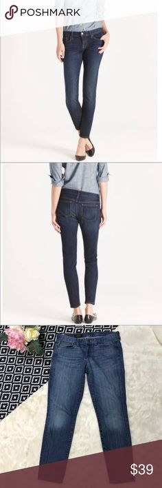 """J. Crew Toothpick Ankle Jeans J. Crew Jeans Black Label  Toothpick Ankle  Sz 29  Waist measures 16"""" across  Rise: 8""""  Inseam measures 27.5""""  98% Cotton, 2% Spandex  Jeans are in excellent condition! Very soft and broken in ( not stiff). There is slight wear on the knees and butt, but nothing major. Great high quality product. J. Crew Jeans Ankle & Cropped"""