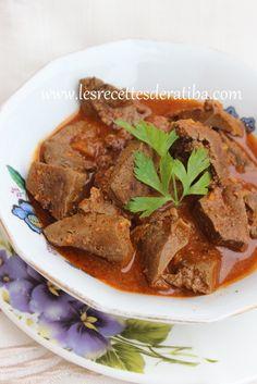 Kebda mchermla / le foie en sauce , cuisine algérienne - Le blog de recette de ratiba,Gâteaux algériens, cuisine facile , gâteau facile