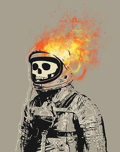 #skull #astronaut # astronauta #calavera