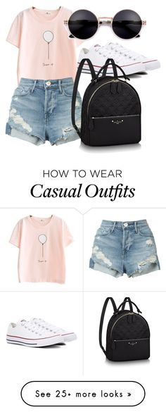 """casual day"" by mavicaciendera on Polyvore featuring 3x1 and Converse"
