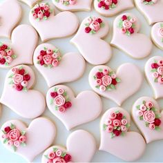 Wedding Cake Cookies Decor Ideas ★ See more: www.weddingforwar… Wedding Cake Cookies Decor Ideas ★ See more: www. Heart Cookies, Iced Cookies, Royal Icing Cookies, Cookies Et Biscuits, Cupcake Cookies, Rose Cookies, Flower Cookies, Cookie Bouquet, Cookie Favors