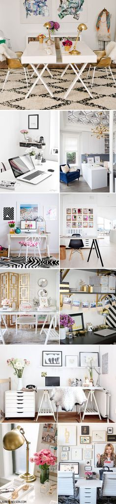 Looking for home office ideas that will inspire productivity and creativity? Discover 65 stunning home office design ideas that make will make work fun. Home Office Space, Office Workspace, Home Office Design, Home Office Decor, House Design, Office Designs, Home Decor, Office Ideas, Office Spaces