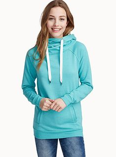 Exclusively from Twik - Hooded sweatshirt updated with a crossover hood in front and two-tone mini stripe lining - Soft, stretch jersey with cozy cotton fleece lining The model is wearing size small