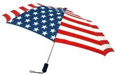 American Stars And Stripes Flag Pattern Auto Open Umbrella