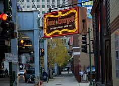 Gene & Georgetti, on a River North corner (Chicago Pin of the Day, 7/14/2014). Best steaks, anywhere!