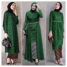 Model Kebaya Muslim, Model Kebaya Brokat Modern, Dress Brokat Muslim, Dress Brokat Modern, Kebaya Modern Dress, Modern Batik Dress, Kebaya Hijab, Kebaya Dress, Dress Batik Kombinasi