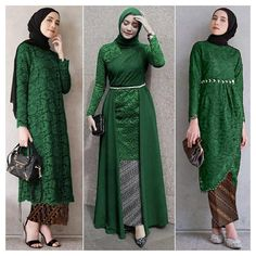 Model Kebaya Brokat Modern, Dress Brokat Modern, Kebaya Modern Dress, Kebaya Lace, Kebaya Hijab, Kebaya Dress, Modern Hijab Fashion, Batik Fashion, Muslim Fashion