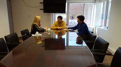 La Dra. Laura Cartuccia visito al Ministro de Seguridad Dr. Carlos Oliver