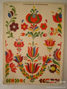 Buy the book Slovak ornamentation. Classifieds - Books, Other books. Hungarian Embroidery, Folk Embroidery, Embroidery Patterns, Polish Folk Art, Folk Art Flowers, Scandinavian Folk Art, Tole Painting, Pattern Art, Art Decor