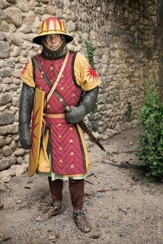 Does anyone know what year or country this medieval soldier might be from? Medieval World, Medieval Knight, Medieval Armor, Medieval Fantasy, Armadura Medieval, Landsknecht, Late Middle Ages, Larp, Knight Armor