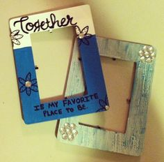 Handpainted Wooden 5 X 7 Picture Frame By Sweetpmonograms On Etsy