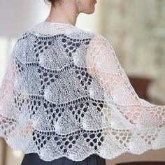 Pretty knit shawl knitting pattern