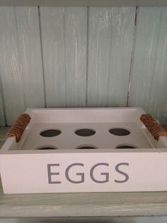 Wooden Egg box kitchen egg storage container country style egg holder #CGB