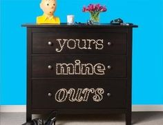 Use Nailheads as Giant Labels | 99 Clever Ways To Transform A Boring Dresser