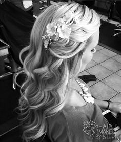 Pretty half up style for a wedding or fancy occasion