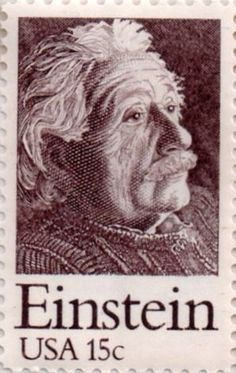 Einstein, US .15¢ stamp commemorating the 100th anniversary of the birth of Albert Einstein, issued in 1979