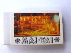 Mai-Tai Lake Minnetonka Minnesota Match Box #Tiki #Polynesian themed defunct resta