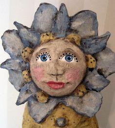 Forget-me-not    papier mache doll