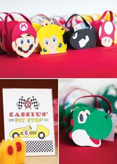 DIY Mario Kart character favor bags