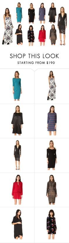 """maxidress collection"" by monica022 ❤ liked on Polyvore featuring Black Halo, Ganni, Chinti and Parker, Shoshanna, Ramy Brook, Ministry of Style, Hatch, Tanya Taylor and vintage"