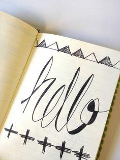 Art Journal Inspiration and DIY - hello - handwritten