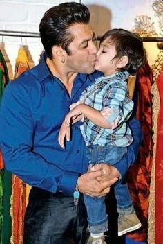 Salman khan with his nephew ♥