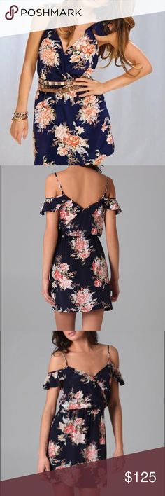 Joie Sari Navy Floral Dress - Large Actual pics to come soon! EUC Joie Sari Dress as seen on Audrina Patridge and several other celebs. Size L. Elastic Waist ❤ Joie Dresses Mini