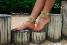 Crochet barefoot sandals Beach anklet Beach wedding Spring wedding Dancing shoes Yoga shoes Nude shoes
