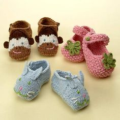 Free Knitted Baby Shoe Pattern | Knitting Patterns Free: Baby Shoe Knitting Patterns
