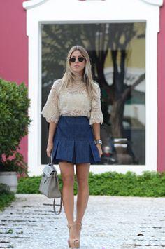 Glam4You por Nati Vozza | Blusa: Martha Medeiros/ Saia: Martha Medeiros/ Sandália: Luiza Barcelos/ Bolsa: Hermès